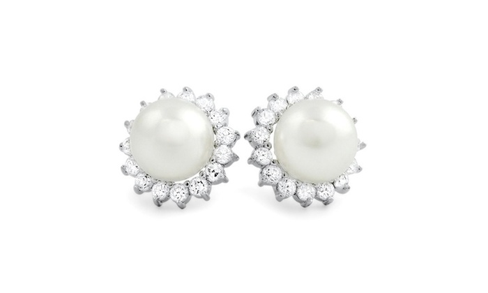 Halo Pearl Earrings.      Price Range Starting At $500