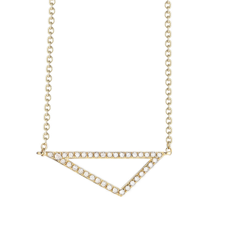 N11057  - 0.11 ct Set In A 14K Yellow Gold Necklace.  List Price: $825    Our Price: $660