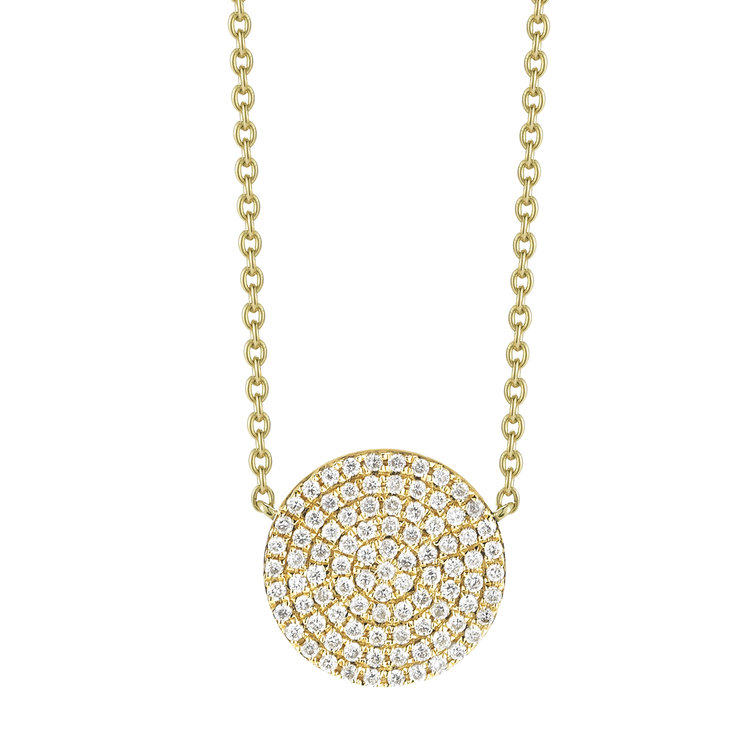 N11067  - 0.27 ct Set In A 14K Yellow Gold Necklace.  List Price: $1,050    Our Price: $840