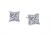 2.50 ct Princess Studs Earrings    List Price: $95      Our Price: $76