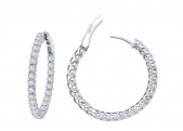 25mm Thin Hoop Earrings.    List Price: $205       Our Price: $164