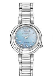 EM0320  - Women's Eco-Drive L Sunrise With Floating Diamonds.  List Price: $795    Our Price: $636
