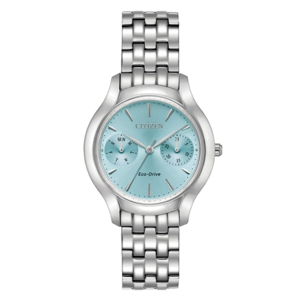 FD4010  - Women's Eco-Drive Silhouette With Turquoise Face.  List Price: $275    Our Price: $220