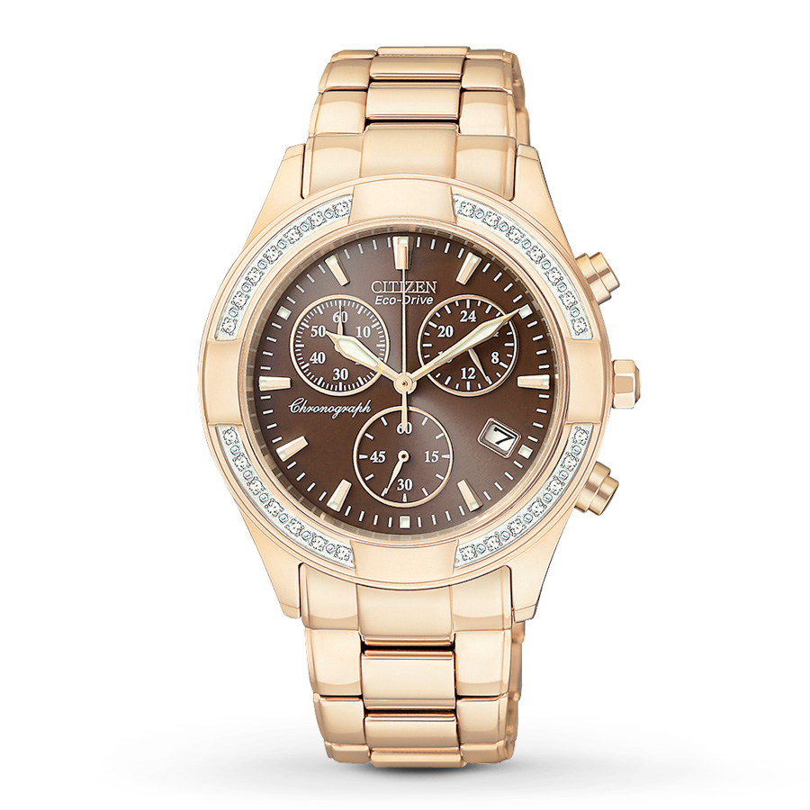 FB1223  - Women's Eco-Drive Regent Chronograph With Sapphire Crystal & 28 Diamonds.  List Price: $550    Our Price: $440