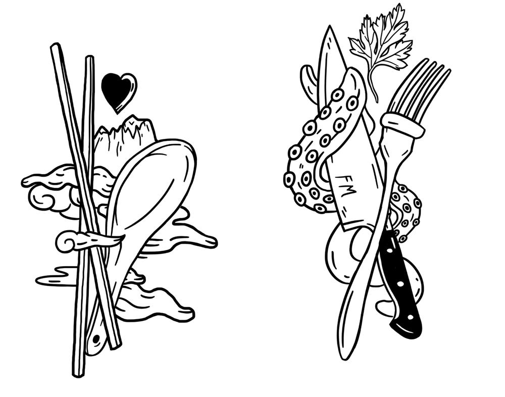 "<div align=""left""><small>Mario's culinary Tattoos 2016</small> </div>"