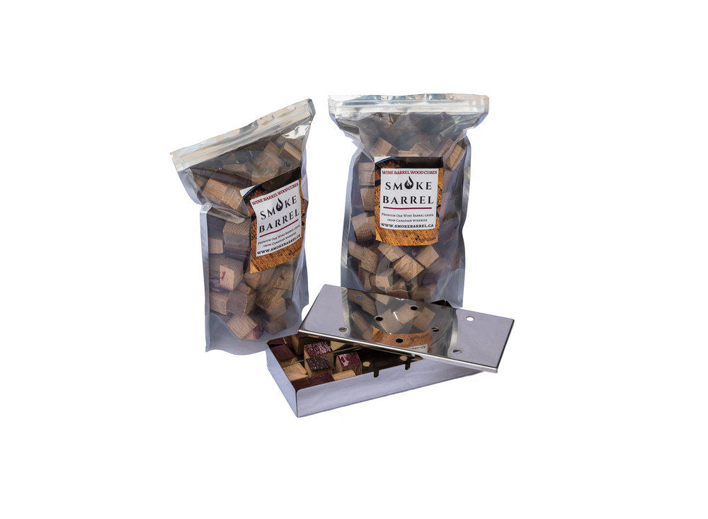 Smoking Chips - Had enough of that fruit roll up smelling vapour cloud that always seems to be floating around? Yeah, same. So step up your game, grab a bag of wine barrel wood chips to smoke your favorite cocktails, meats, and vegetables.