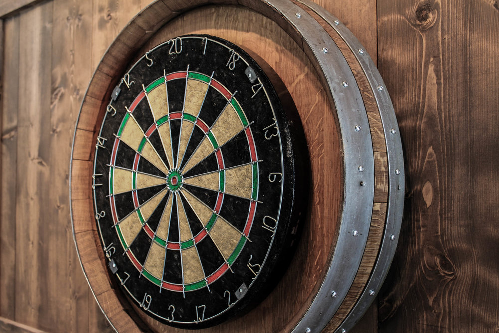 Dart Board - What's a patio party without a game of darts? But don't worry – no beers will be harmed in this game.