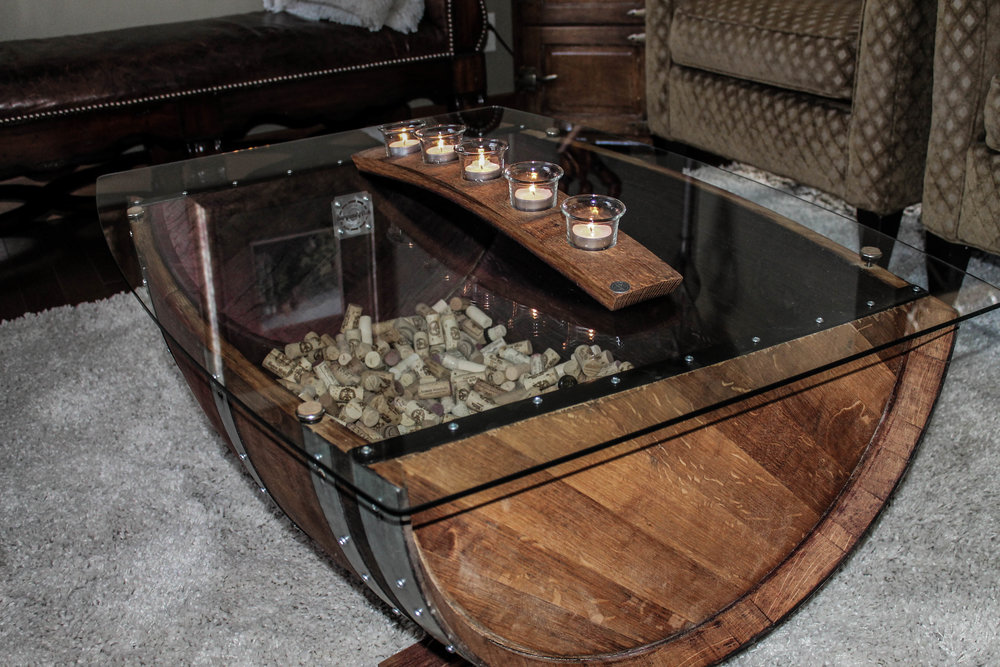 Burgundy Oak Barrel Coffee Table is a definitive piece that will be sure to spark conversation and highlight your design style. Restored from a used Red Wine Barrel