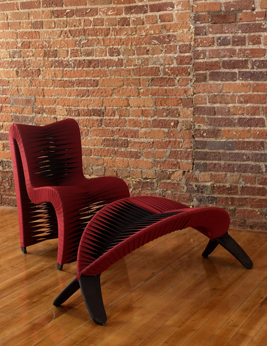 Seat Belt Dining Room Chair   RED