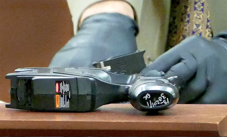 The taser fired the night of Jonathan Ferrell's death. Photograph: Davie Hinshaw/AP