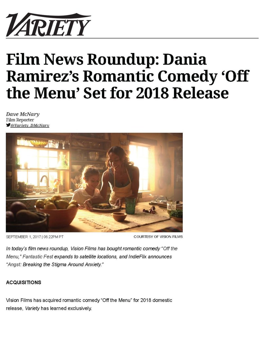 1Pages from Dania Ramirez' Romantic.jpg Comedy 'Off the Menu' Set for 2018 Release | Variety.jpg