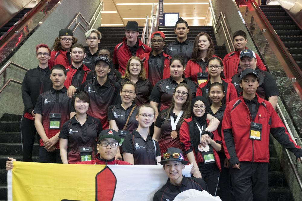 Team Nunavut at the National Skills Competition in Winnipeg, MB.