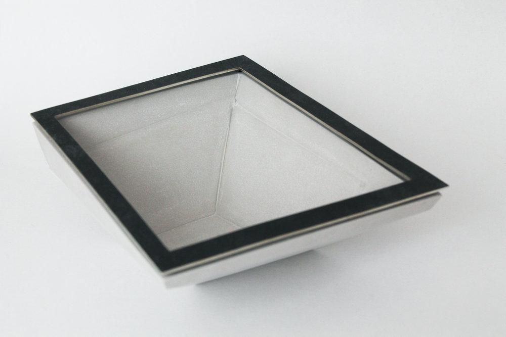 Oxidised White Metal and Jesmonite Bowl