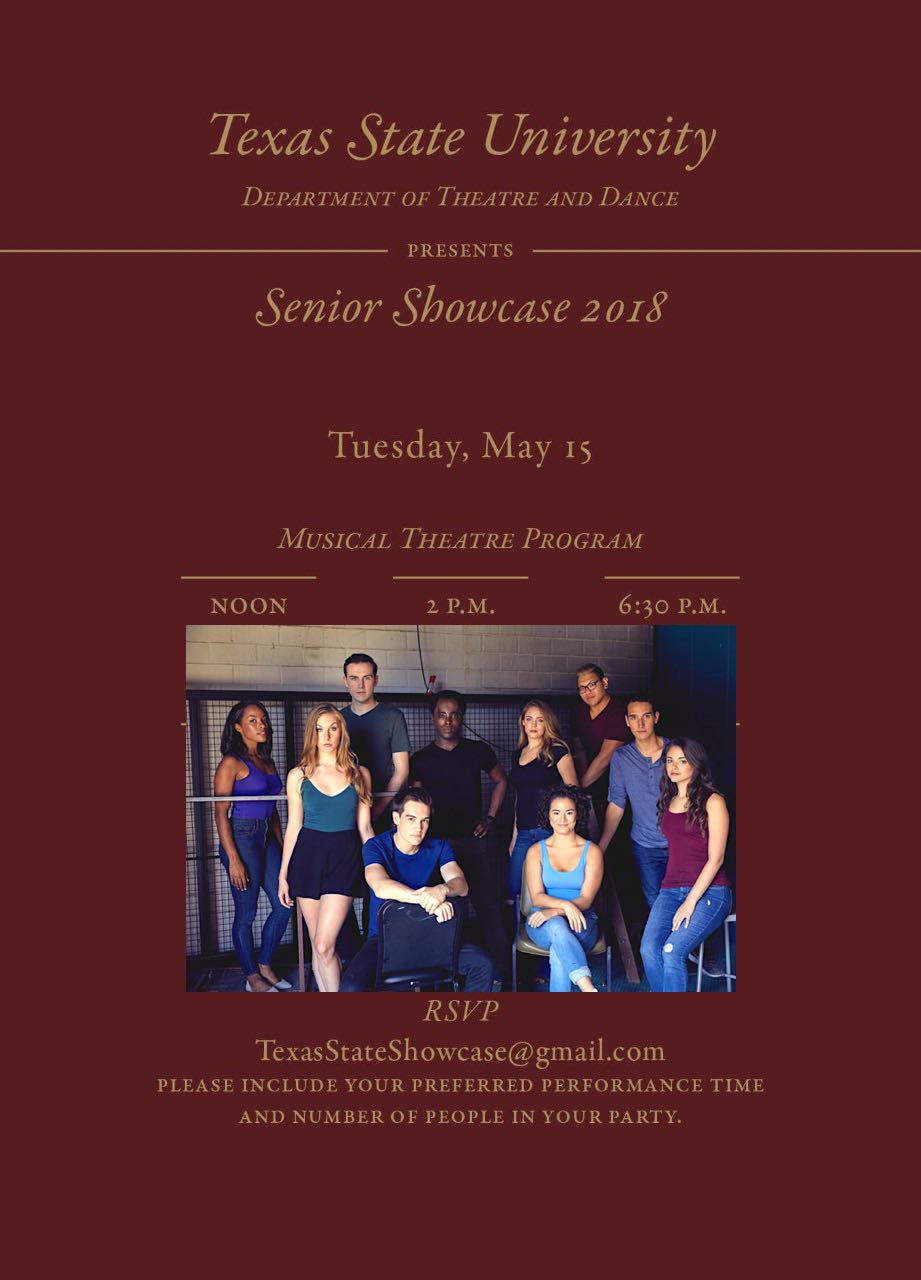 MT BFA Class of 2018 Showcase - Our Senior Showcase will be at Pearl Studios on May 15, 2018.Pearl Studios, 500 8th Avenue4th Floor - Studio #404New York, NY