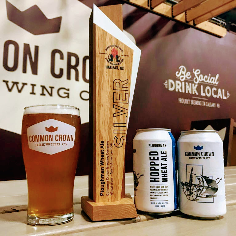 2018 Ploughman Hopped Wheat Ale  - So proud to be recognized by Canadian Brewers Awards again this year! We are honored to have received a Silver in the Wheat Beer - North American Style!