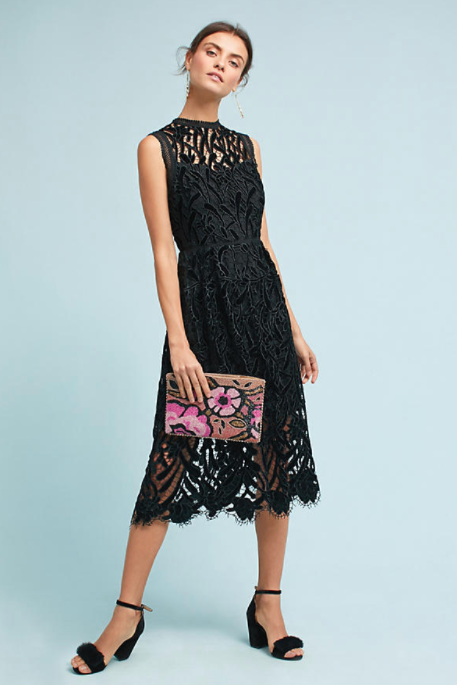 Shoshanna Floral Lace Dress $568