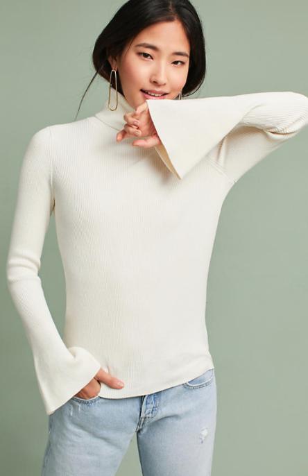 Knit Turtleneck Pullover $78