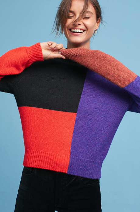 Mara Hoffman Janet Colorblock Turtleneck $325