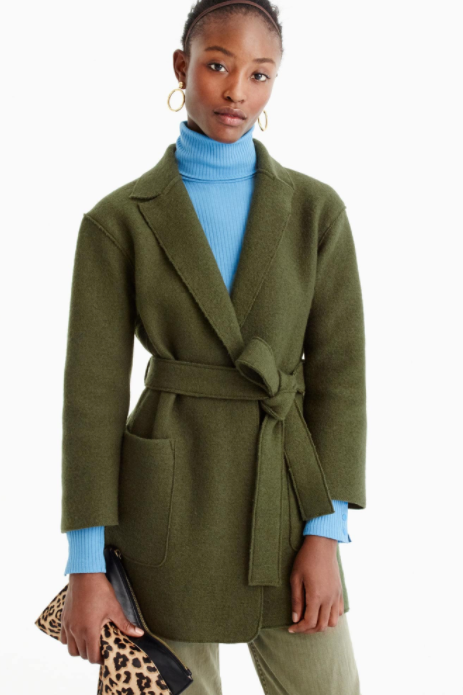 J. Crew Tall Wrap Coat $168