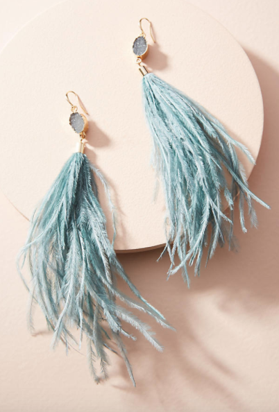 Deanne Feather Drop Earrings $48