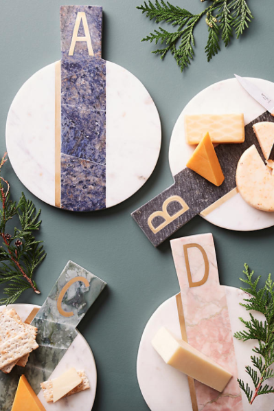 M  arbled Monogram Cheeseboard $38