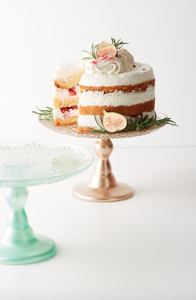 Metallic Lace Cake Stand $48