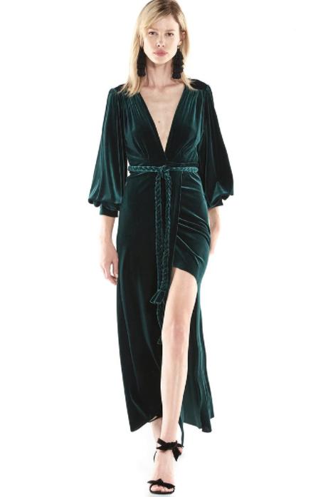 MISA Madeline Velvet Dress $304