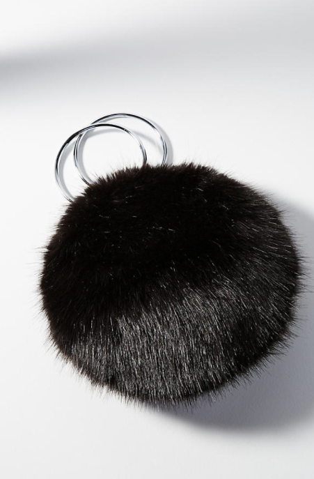 Faux Fur Pom Pom Bag $88