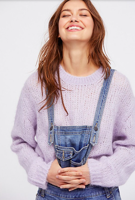 Fluffy Crew Sweater $128