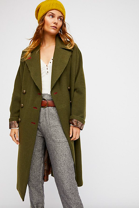 S  louchy Wool Coat $298