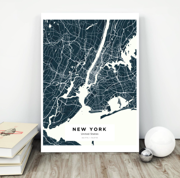 A Customizable Map $50