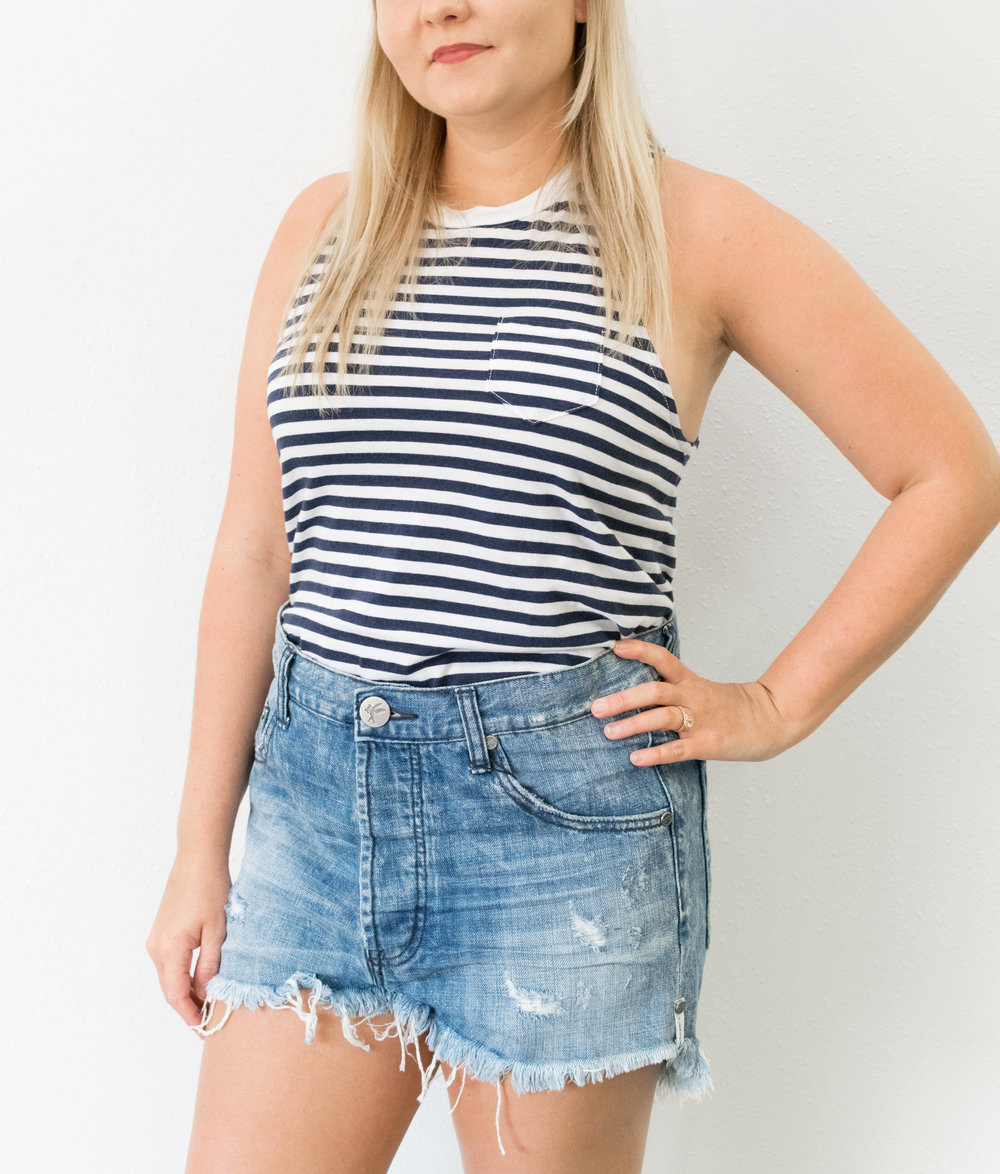 When in doubt? Navy stripes. -