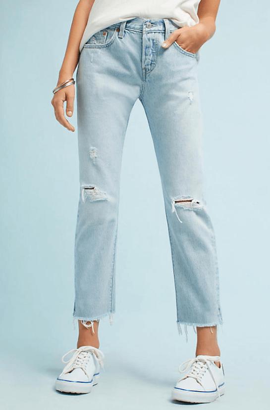 Levi's 501 Mid Rise Straight Jean $98