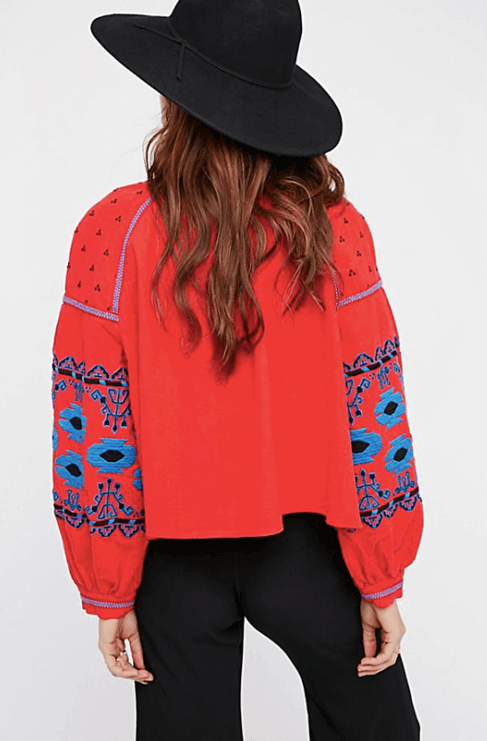 Embroidered Swingy Jacket $168