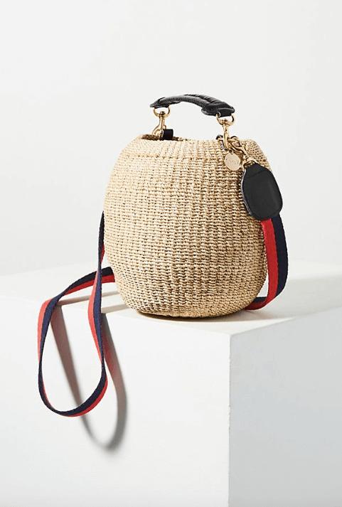 Clare V Woven Basket Bag $248
