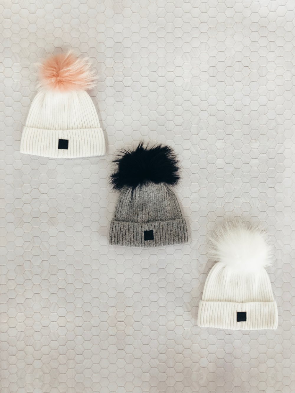 Beanies With a Pom -