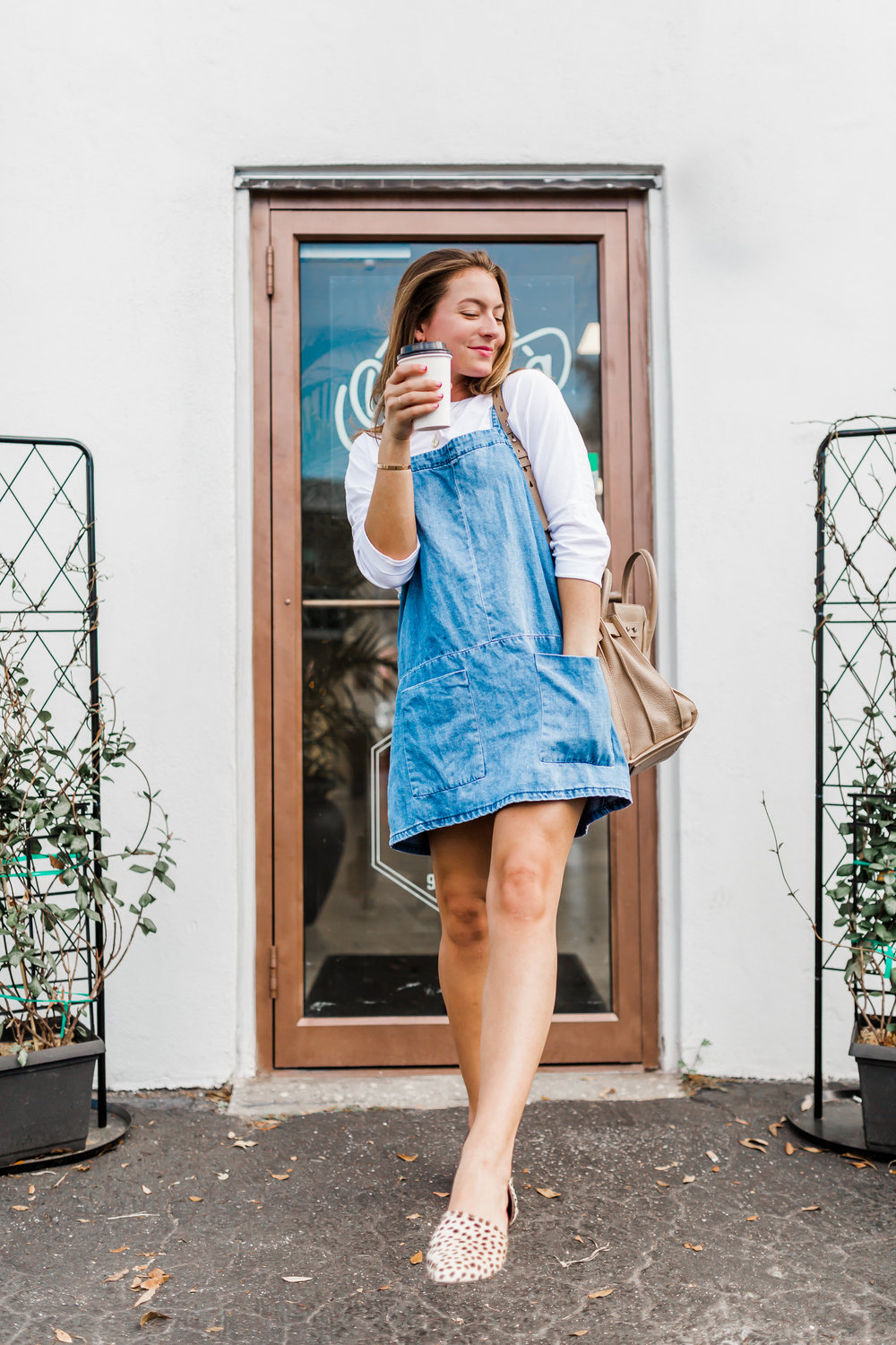 For Your Coffee Date - Denim Jumper: One Teaspoon $139