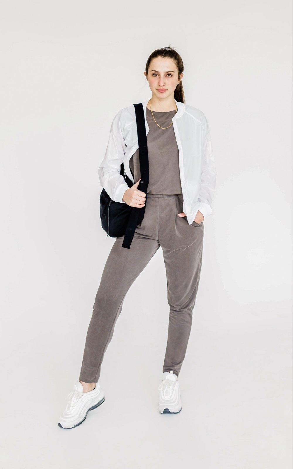 Jadyn's Look - What She's Wearing:Koral Dash JacketRebecca Minkoff Nylon Hobo Bag