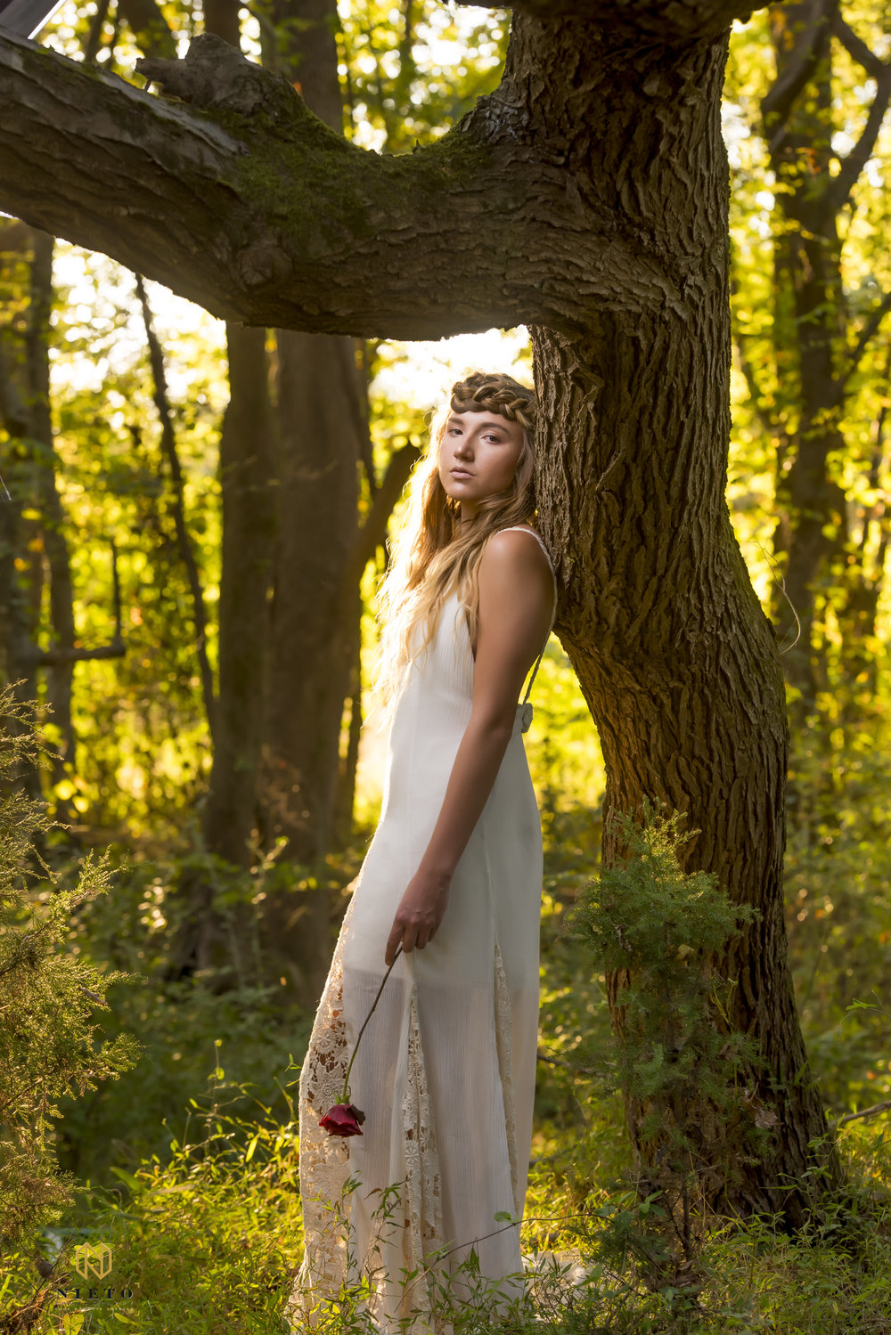 Photographer: Nieto Photography  Model: Shana Collins  Hair: Alli Carter  Wardrobe/Designer: Moon Flower Child Boutique