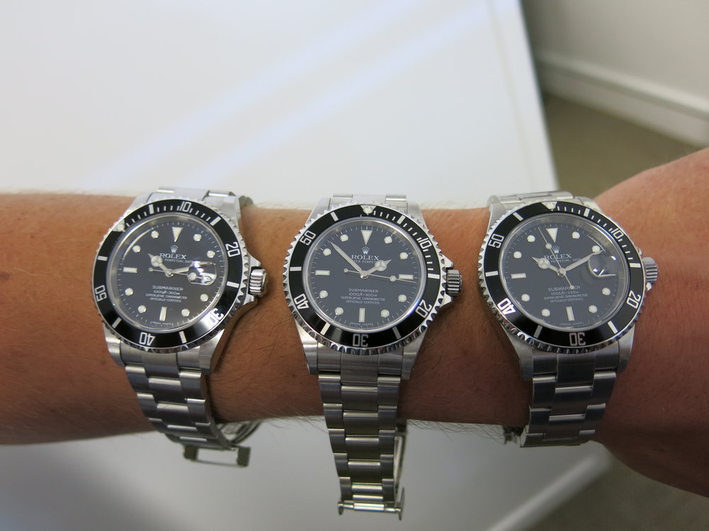 Subbys! Subbys! Of course we have Subbys! - We have three fabulous Rolex Submariners in stock!A non-date 14060M from 2008 with box and papers; a date model 16610 from 2006 with box and papers ; and a date model 16610 from 2010 with box and papers. They are all in excellent condition, ready for your Christmas stocking!Please enquire for details.