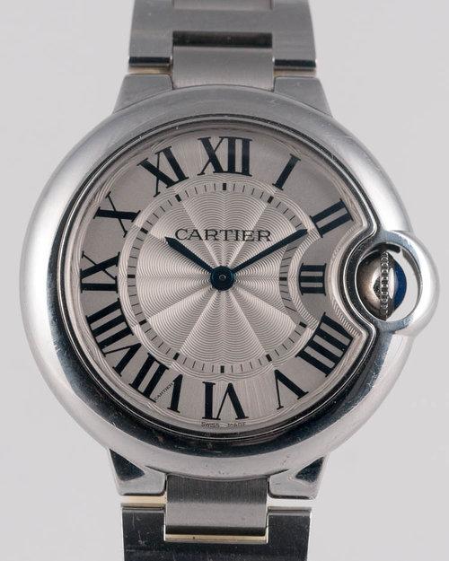 260655d7445 Cartier Ballon Bleu Stainless Steel 33mm Quartz Midsize Watch Ref. 3653