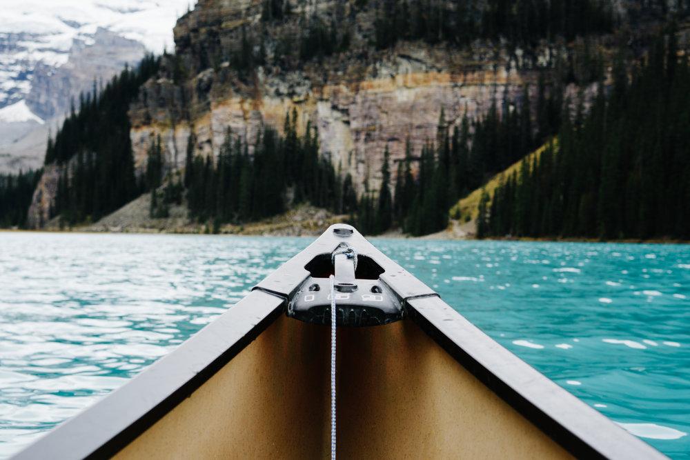 Canoeing in Alberta Canada