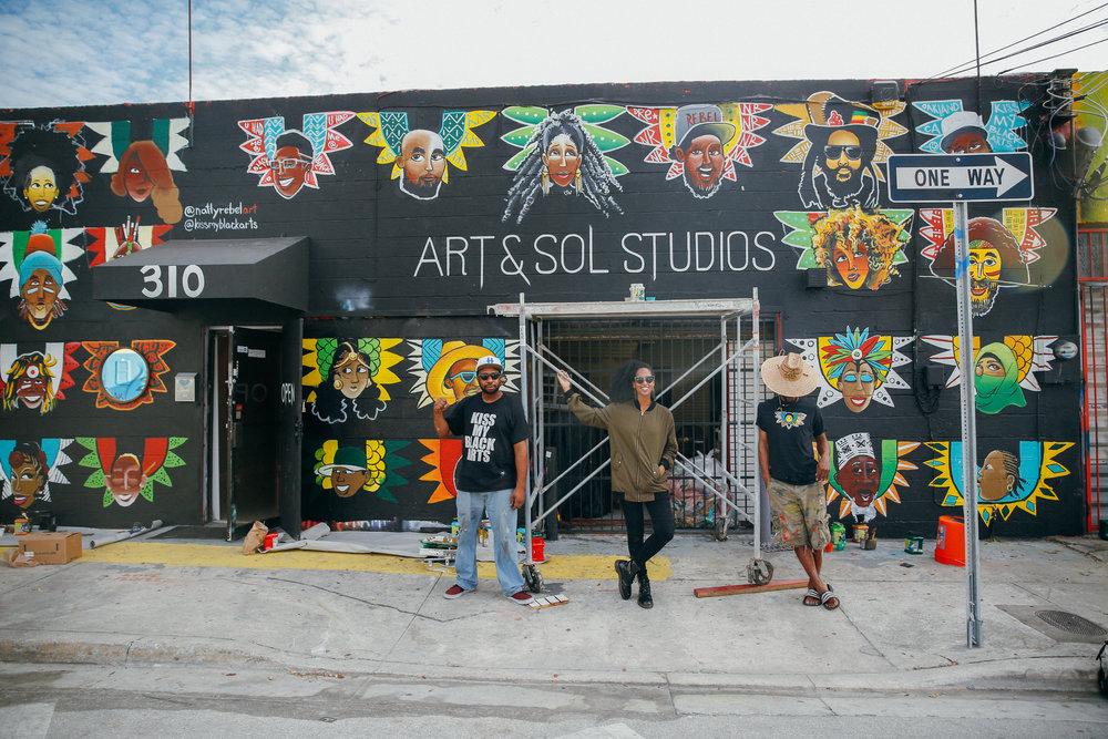 Photo: Elijah Craig II // Muralists (in order of appearance): Kiss my Black Arts, Sephora Woldu, Natty Rebel. Video: Elijah Craig II, Sephora Woldu.