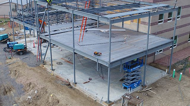 Thanks to @fransenpittmangc for the drone shots of SCHS. Keep an eye out for all the drone shots in the coming week! #schs #construction #drone #svvsd #expansion