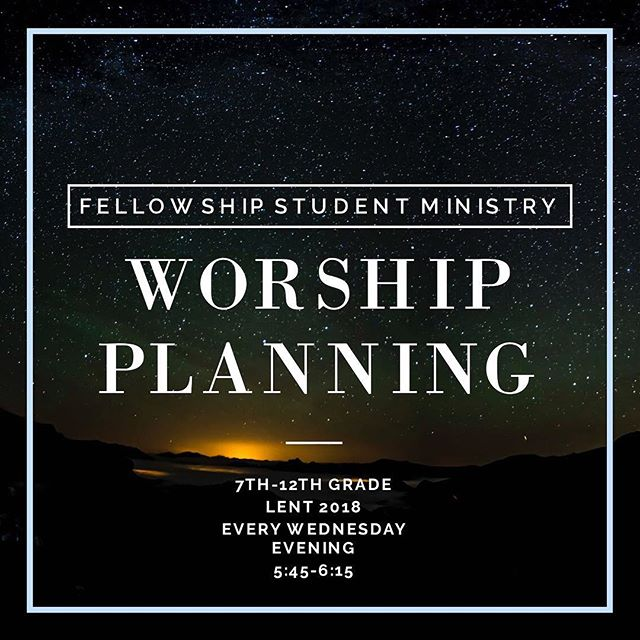 Tonight! Why do we worship? Why do we come to church? Sometimes it's pretty boring, no doubt. But is there more going on than old rituals and songs on an organ? Come explore tonight and be part of planning your own worship service tonight!