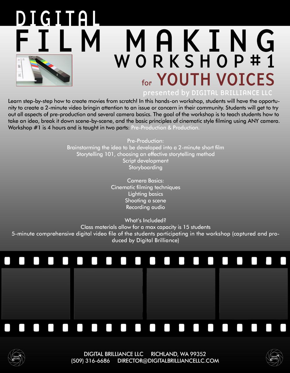 Flyer for workshop #1 - Click to enlarge