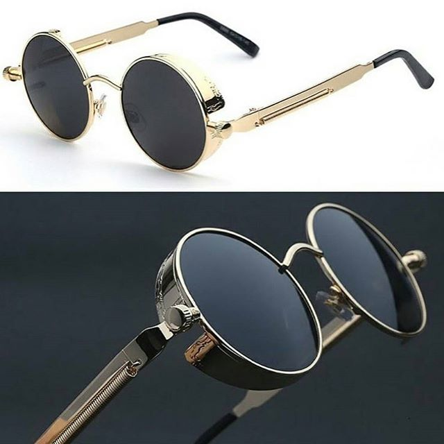 "@bentonapparel ▪""Retro Steampunk Sunglasses"". Priced at 35$ . . ▪Order Today & get free worldwide shipping 👉 Available at @bentonapparel"