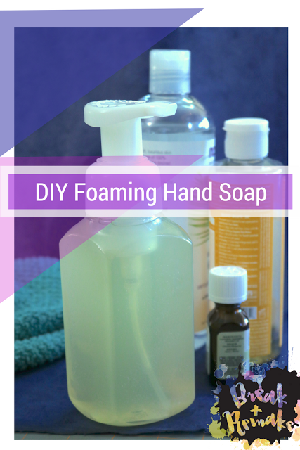 Super simple DIY foaming hand soap