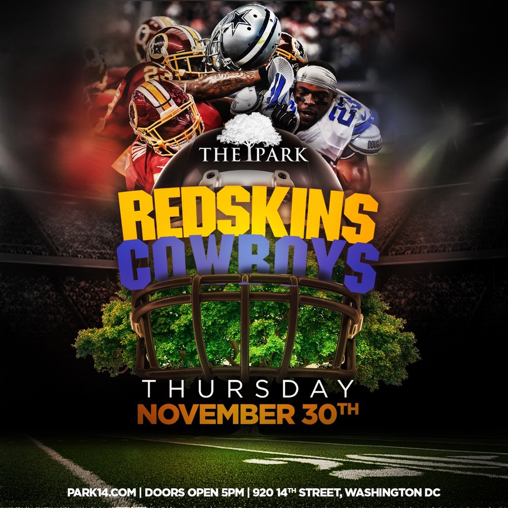 Catch the Redskins and Cowboys today over Happy Hour and Dinner!