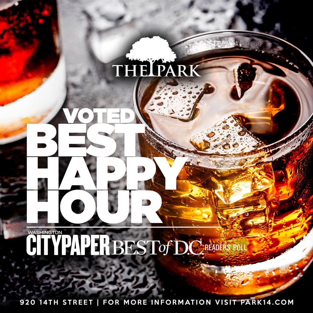 Voted Best Happy Hour - Washington City Paper Best of D.C.